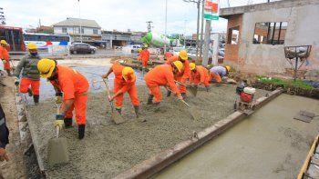Esteban Echeverría: nueva pavimentación en 9 de Abril