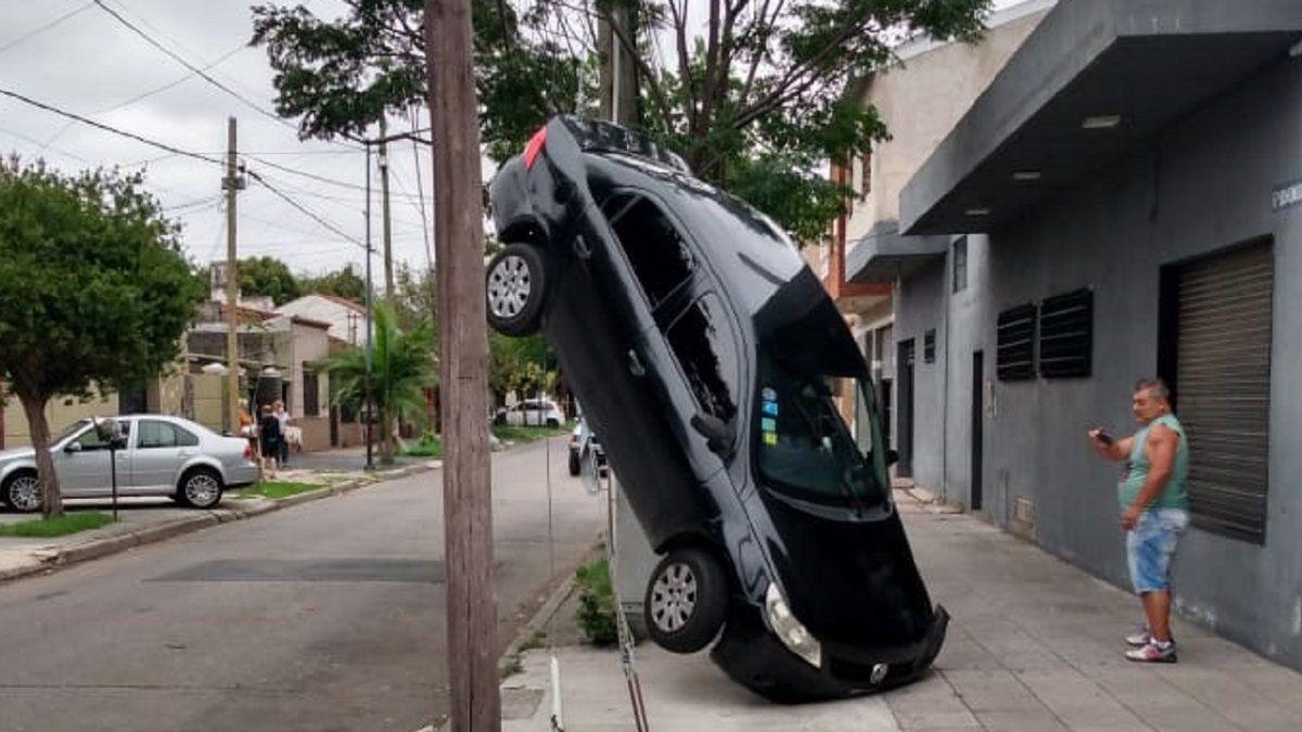 Insólito accidente en Lanús