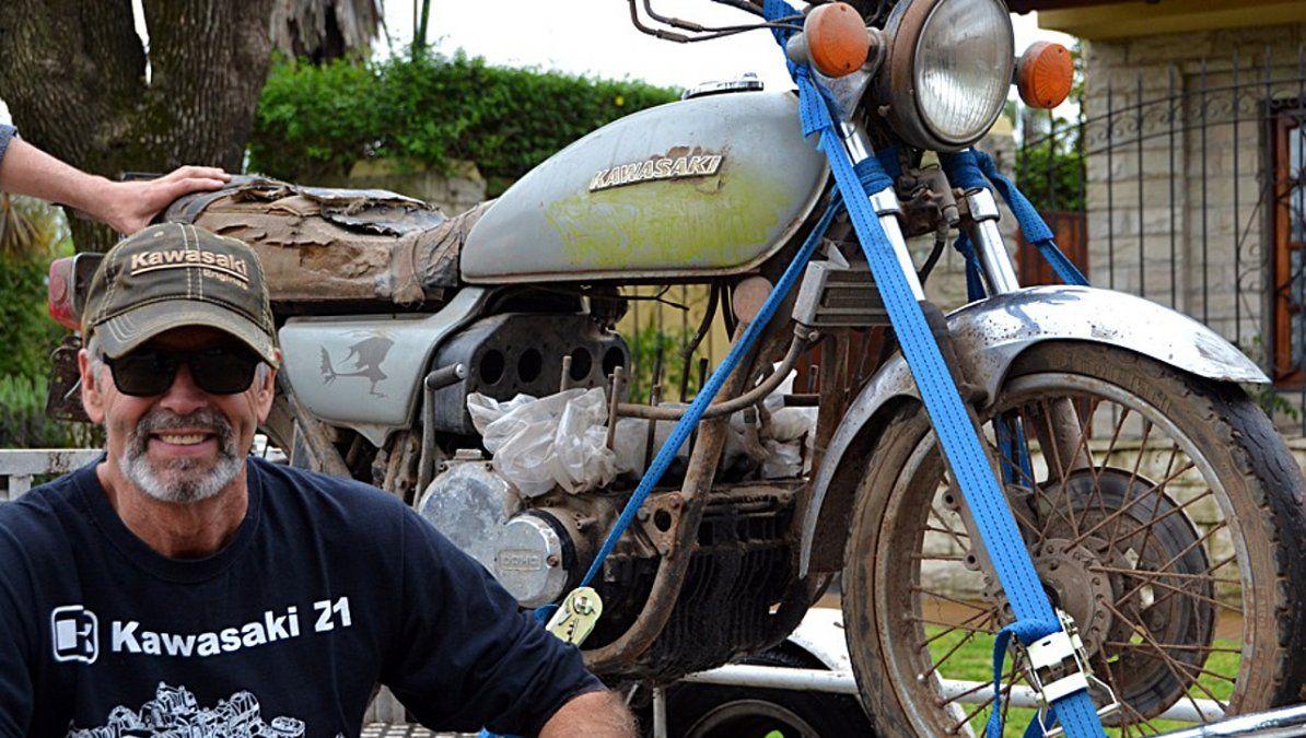 Restauración de motos clásicas: vecino de Monte Grande cuenta los secretos del oficio