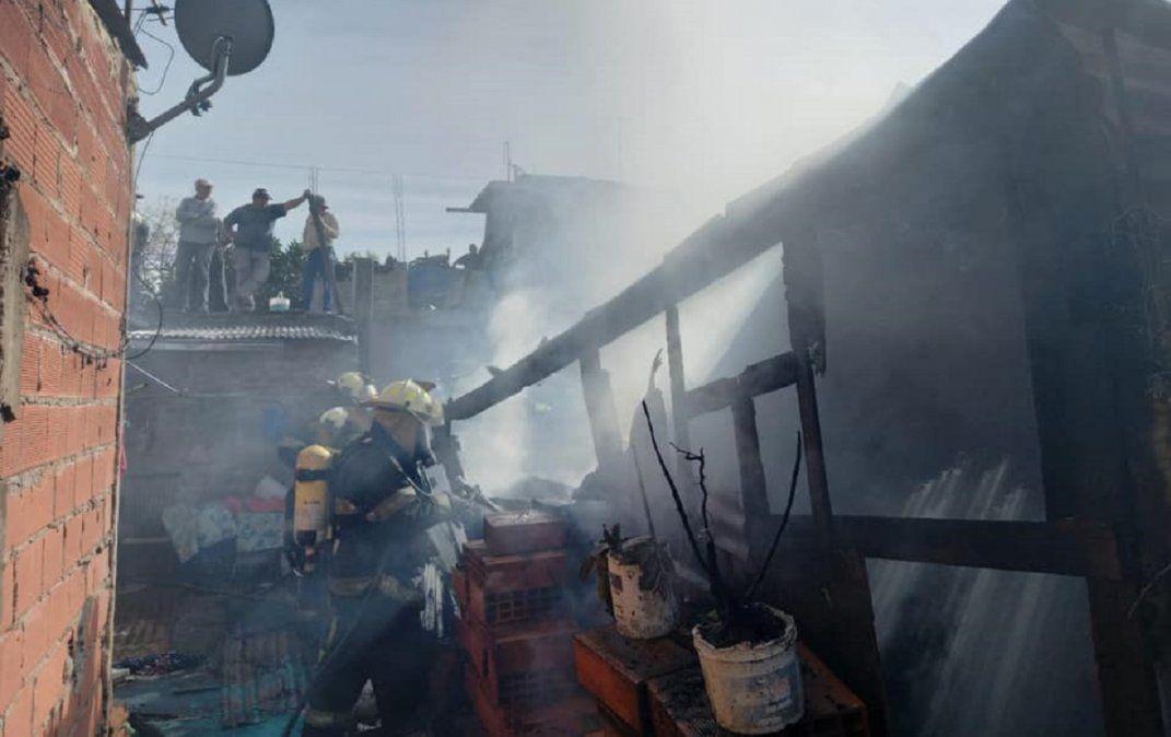 Incendio en Lanús