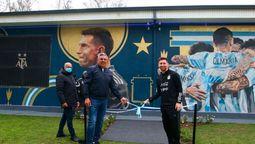 Ezeiza: Inauguraron un mural en AFA de los Campeones de América