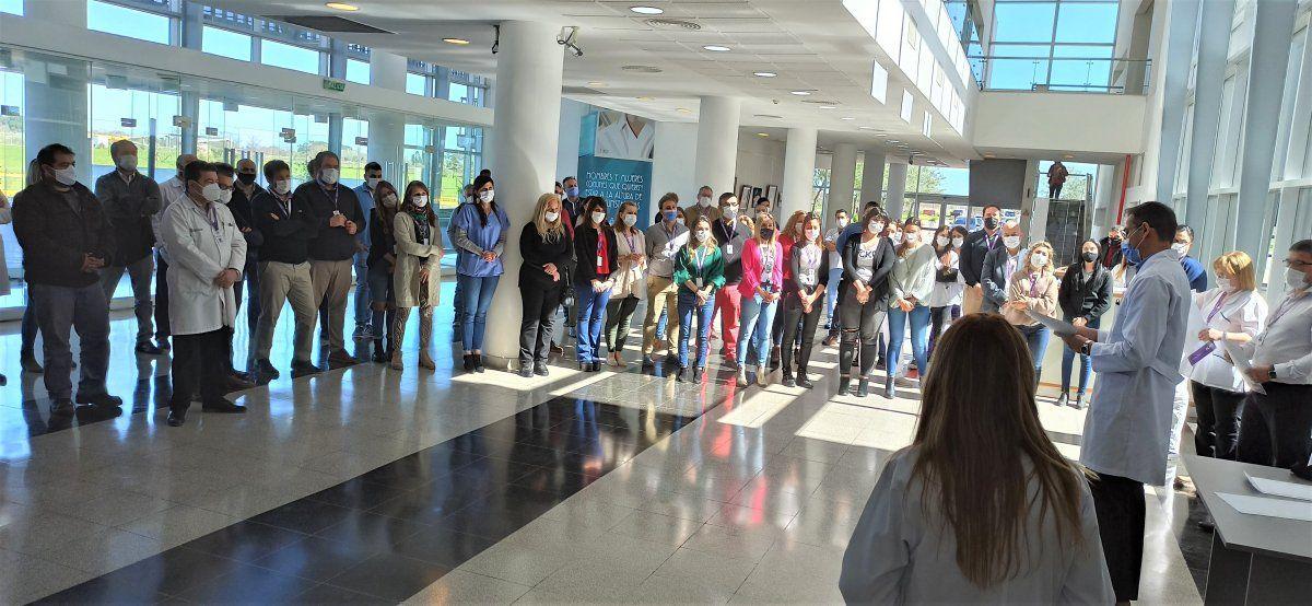 El personal del Hospital de Cañuelas recibió reconocimientos por el Día de la Sanidad.