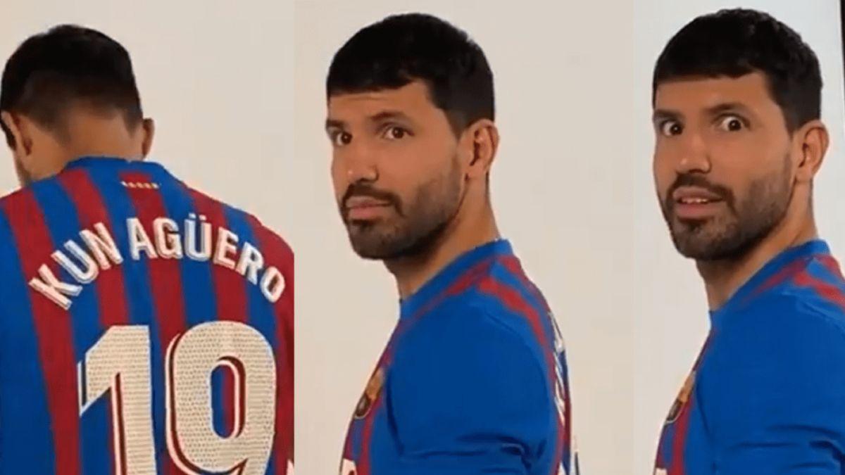 Video: el back de fotos del Kun Agüero en el Barcelona que se volvió viral