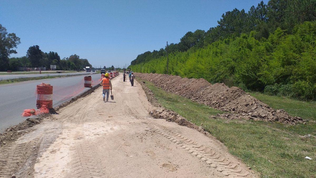 Canning: construyen una dársena de retorno en la ruta 58 frente a Saint Thomas