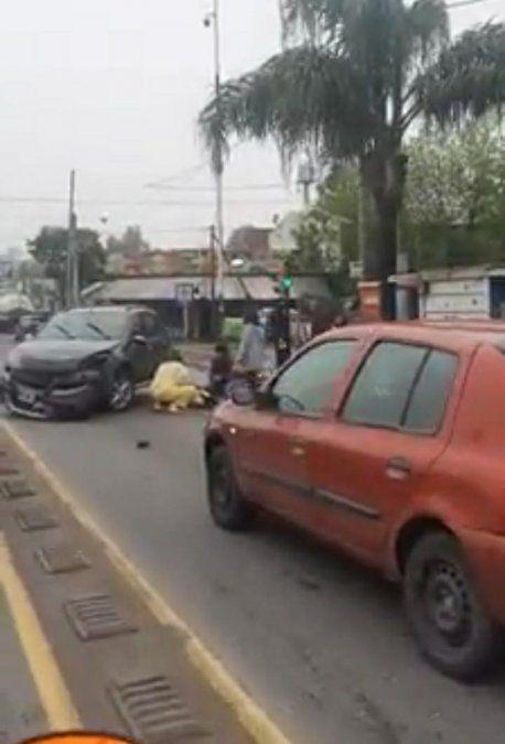 Fuerte choque sobre la Ruta 205 en Ezeiza: una mujer fue trasladada al hospital