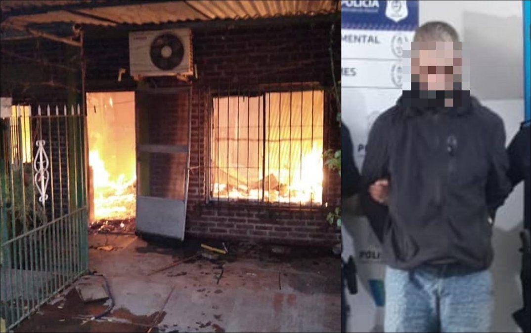 Detuvieron a un joven por el incendio de cinco casas en San José