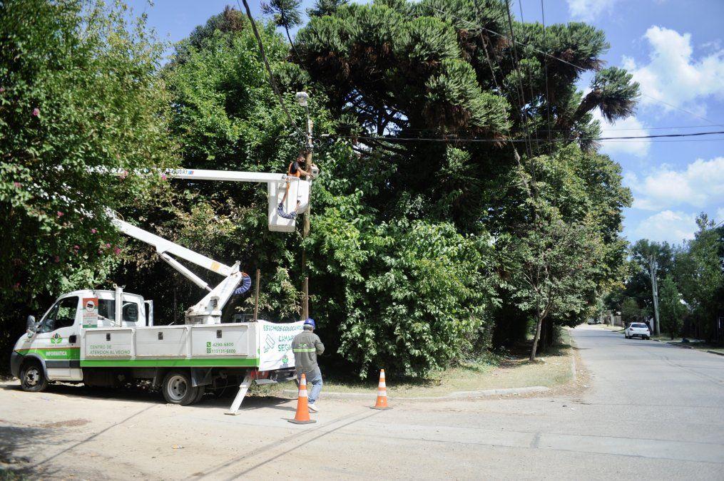 Colocaron nuevas cámaras de seguridad en Monte Grande