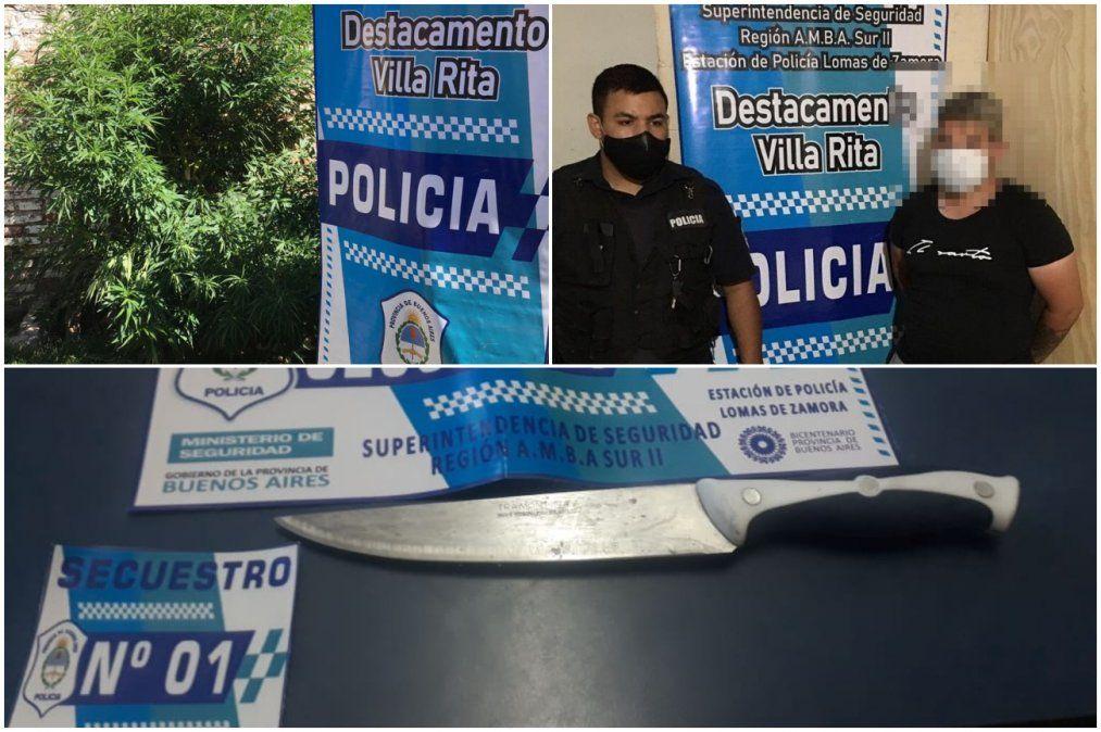 Cayó un joven en Lomas de Zamora que tenía una plantación de marihuana.
