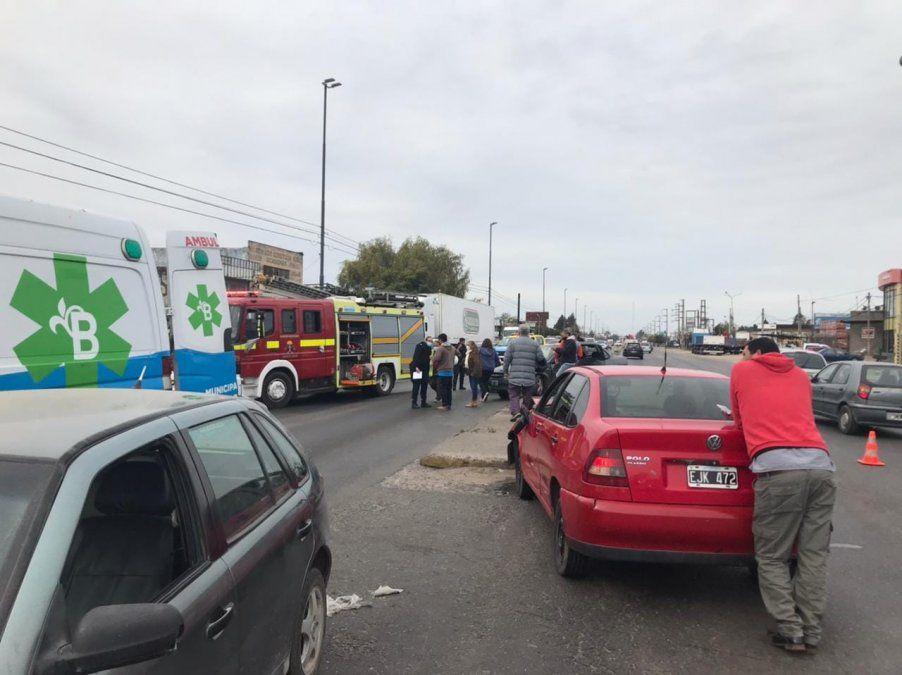 Fuerte choque en Camino de Cintura: hay tres heridos