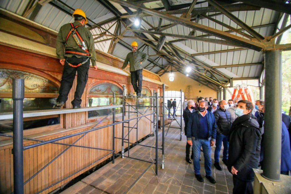 Restauran el tren presidencial de la quinta de Perón en San Vicente