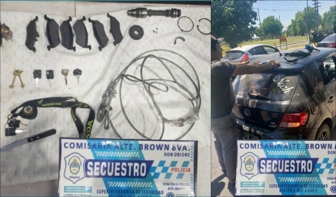Cayó una banda que robaba autos en Don Orione