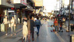 La peatonal Laprida, un lugar que todos los vecinos de Zona Sur conocen.