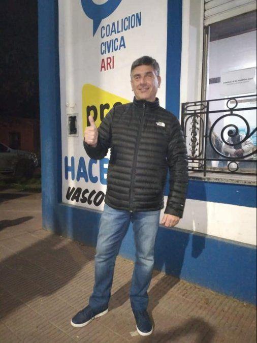 Marcelo Raimondo, ganador de la interna de Juntos en San Vicente.