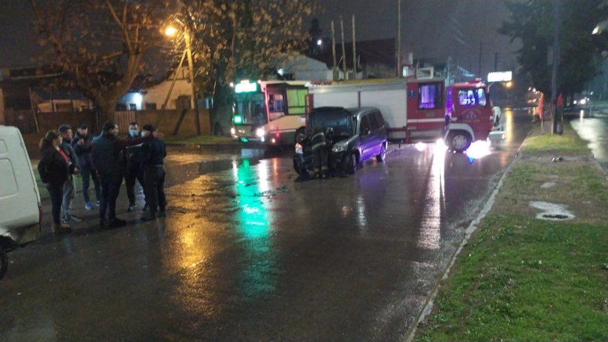 Brown: un choque dejó a un hombre y un nene lesionados