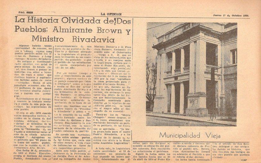 Ministro Rivadavia, la ciudad que nació antes del municipio