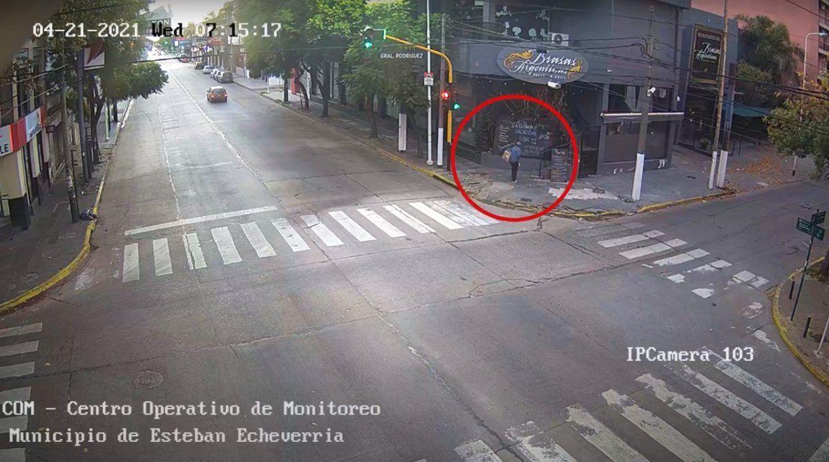 Detectaron un robo con cámaras de seguridad en Monte Grande