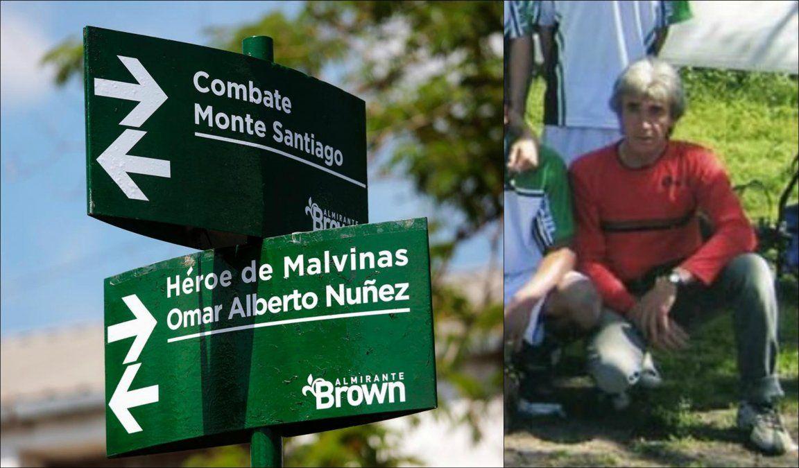 Omar Alberto Núñez, el héroe de Malvinas inmortalizado en una calle de Longchamps