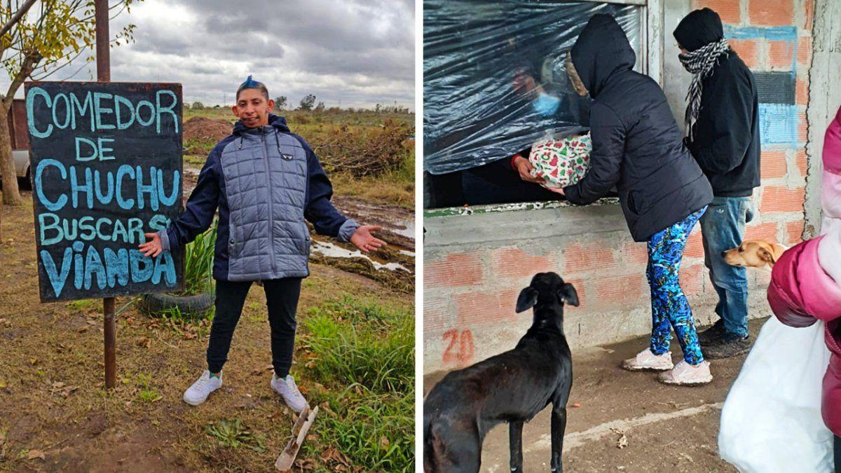 Chuchu abrió su comedor solidario en Monte Grande