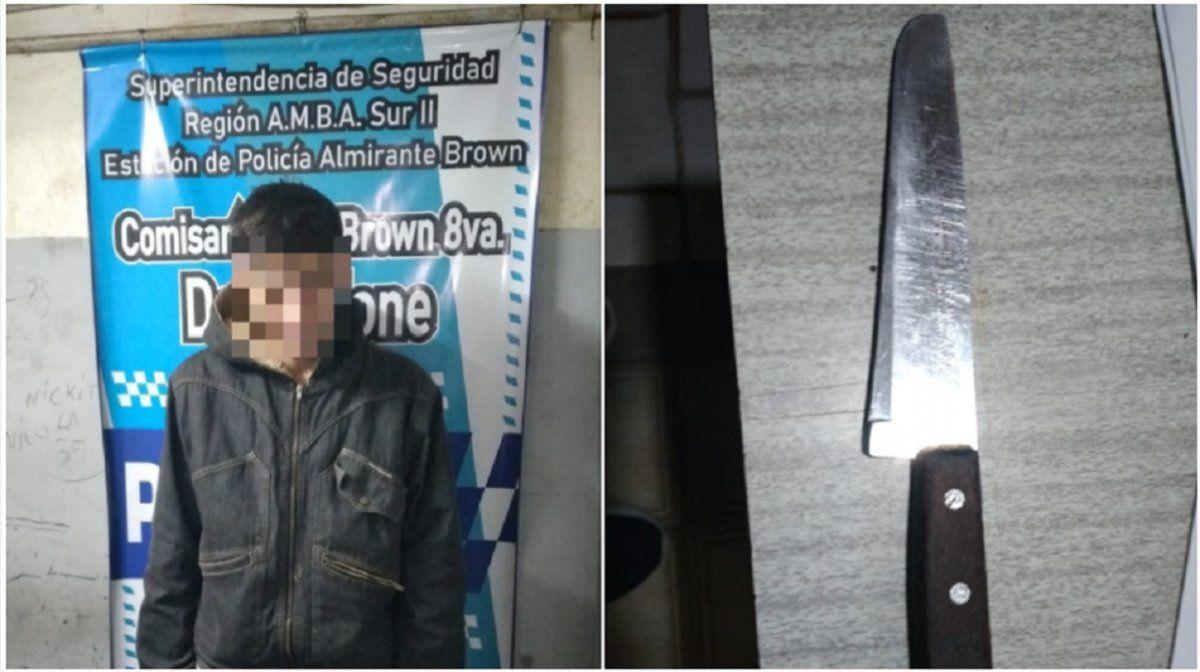 Un joven amenazó de muerte a su mama en Almirante Brown