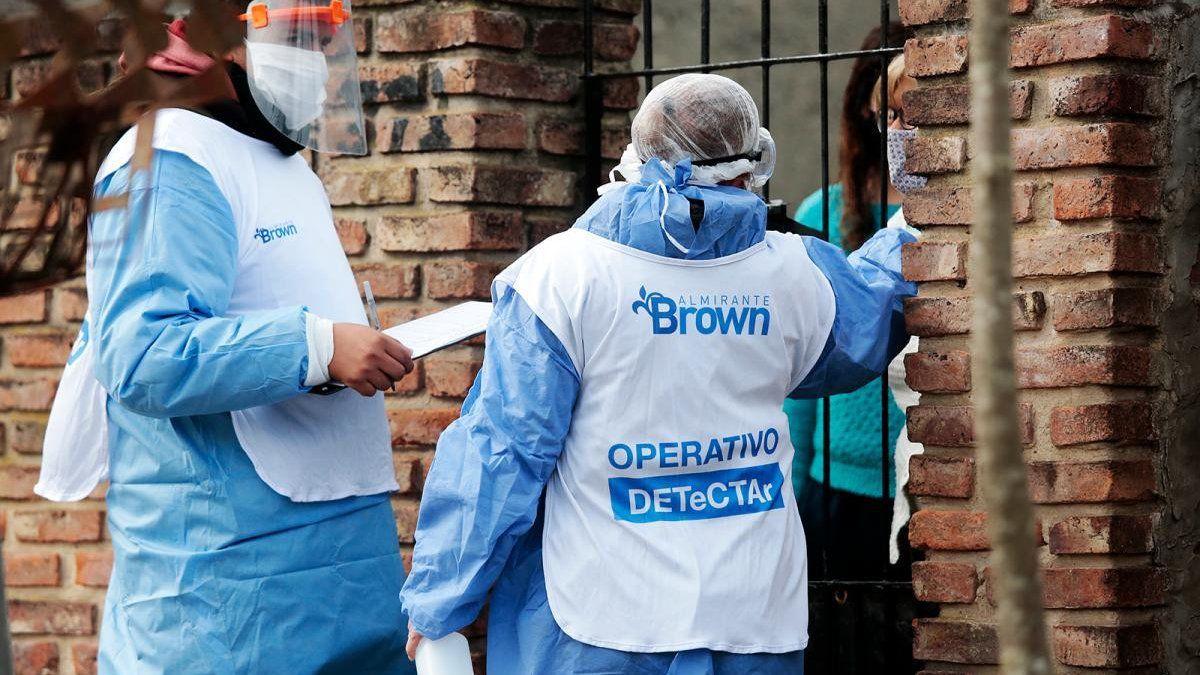 Coronavirus: aumentó la cantidad de casos activos en Brown y superan los 11 mil