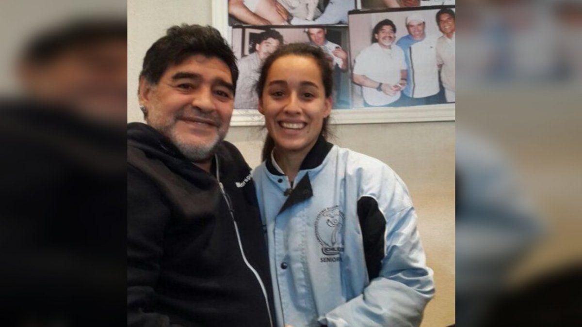 La relatora de Brown que participa en un reality y emocionó con su historia con Maradona