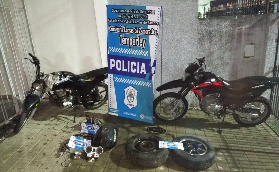 Temperley: detuvieron a una banda de motochorros
