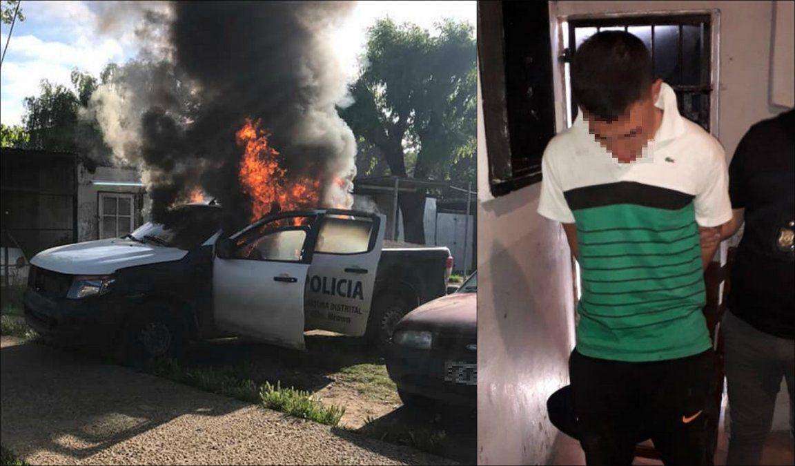Don Orione: Detuvieron al autor del incendio a un patrullero