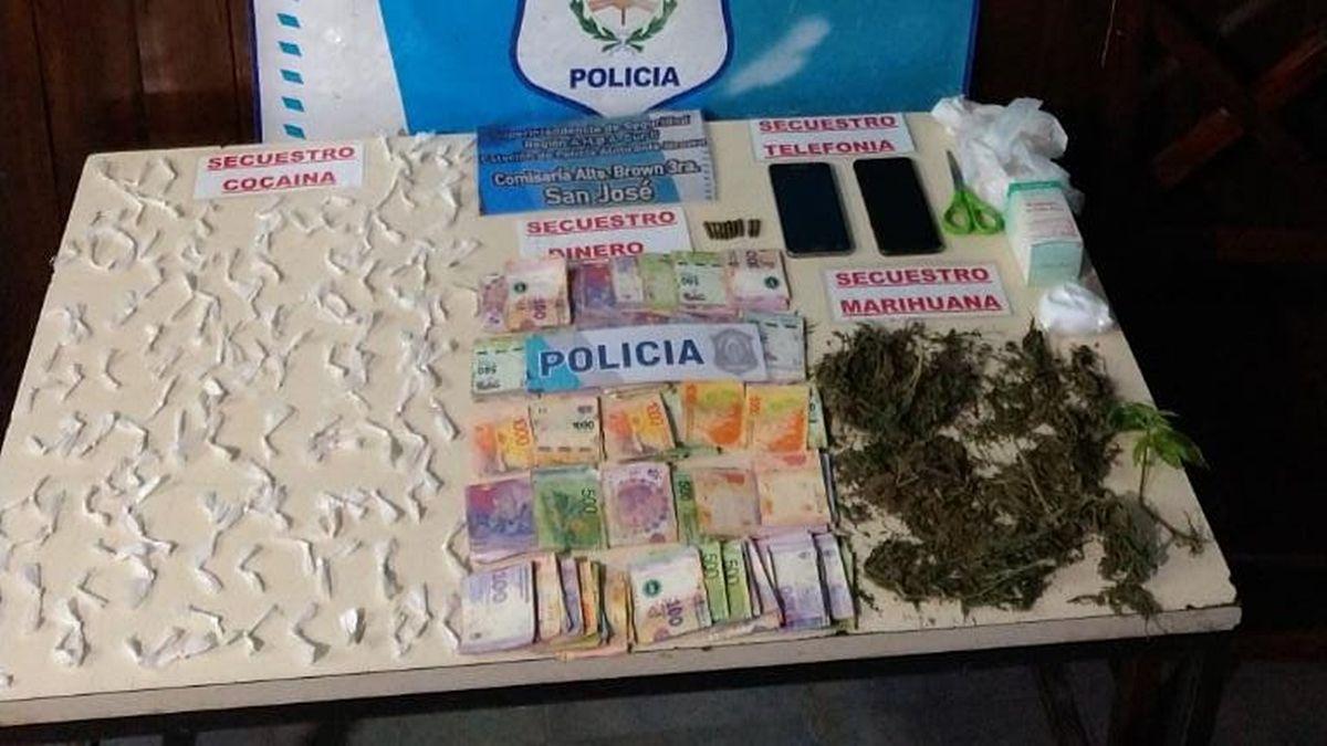 Cayó una banda que vendía cocaína y marihuana en San José