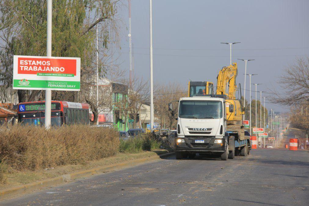 Boulevard Buenos Aires reducida por obras de bacheo