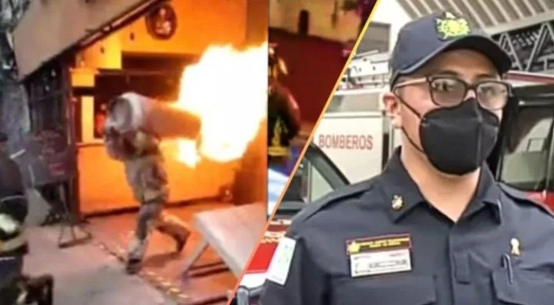 emocionante: un bombero puso en riesgo su vida para evitar una explosion de gas