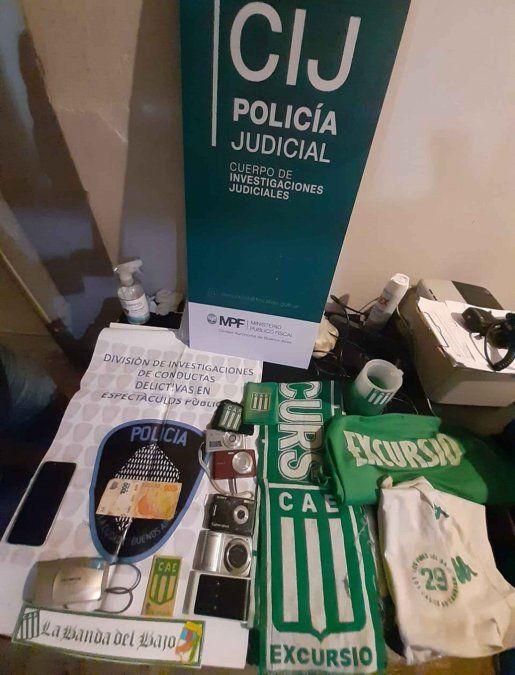 Elementos incautados durante los allanamientos en Lomas de Zamora y otras localidades.