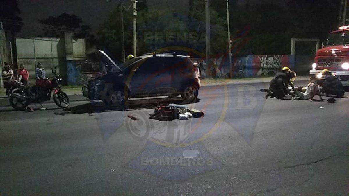 Choque en Almirante Brown dejó dos heridos de gravedad
