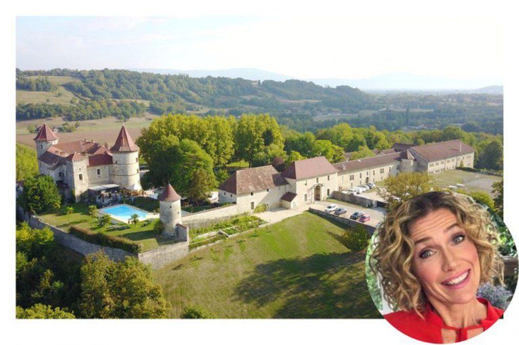 El castillo de Francia donde estuvo alojada Maru Botana. Al volver, fue multada por provincia.