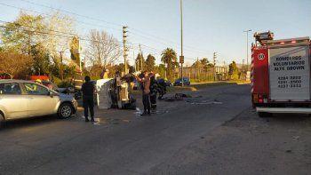 Insólito: hubo dos accidentes de tránsito al mismo tiempo en Brown