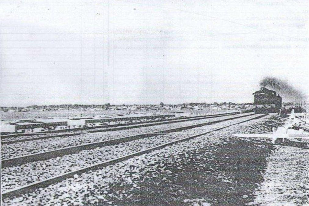 La estación de tren llegó a El Jagüel en 1957.