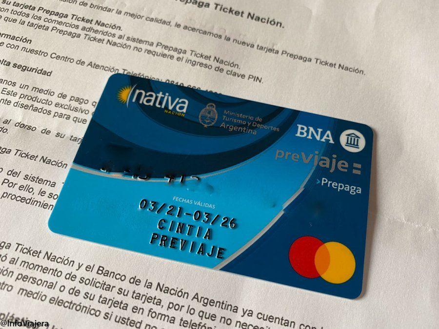 Los pasajeros que se inscriban al programa Previaje pueden recibir el crédito a través de una tarjeta física.