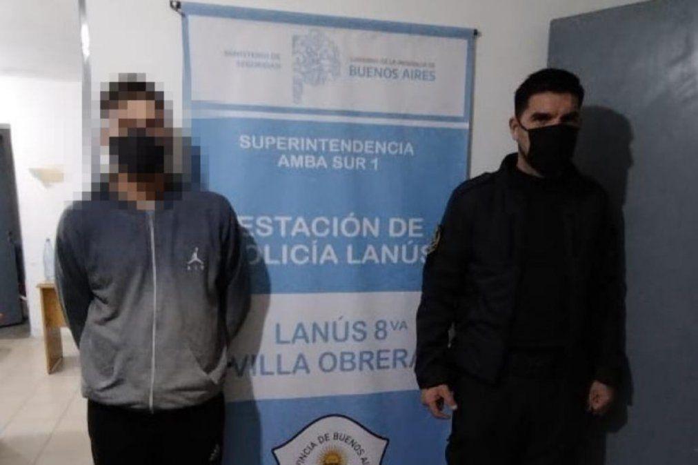 Uno de los delincuentes detenido por el robo de un caballo a un cartonero en Lanús.