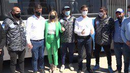 presentaron colectivos con camaras de seguridad en san vicente