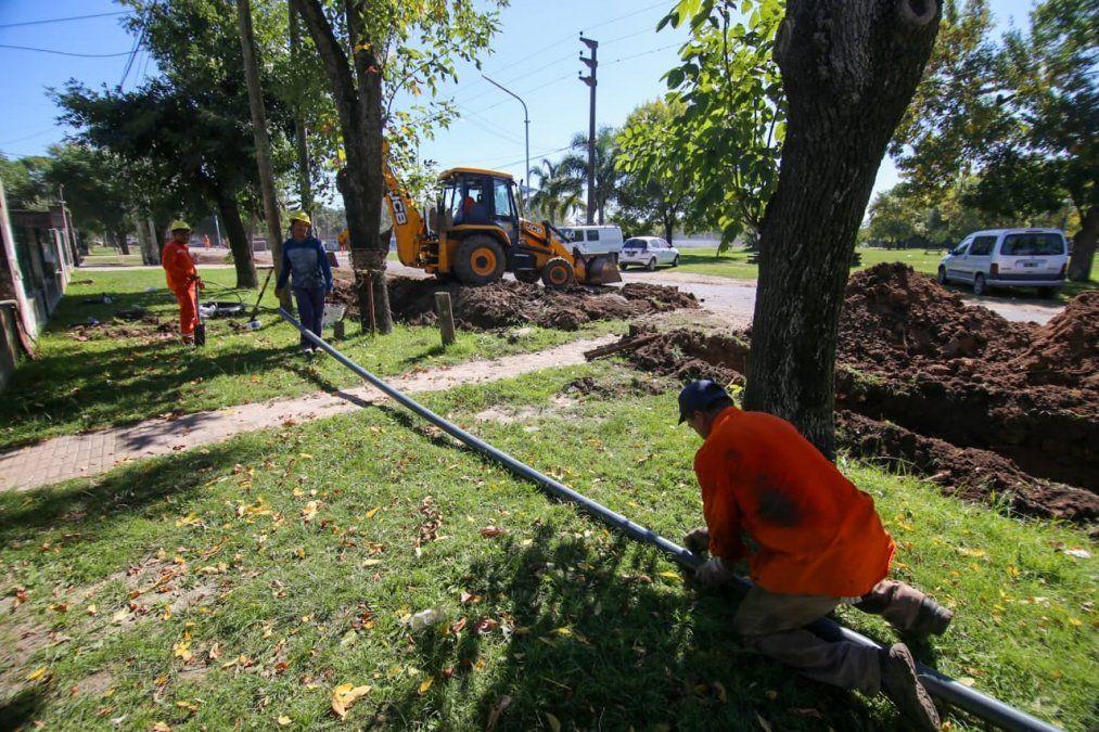 San Vicente: trabajan en la ampliación de la red de agua