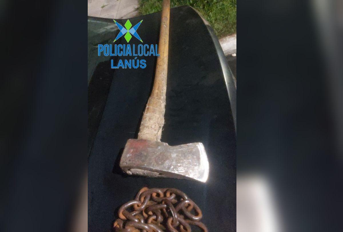 Tres detenidos por robo en Lanús: tenían un hacha y uno era buscado por homicidio
