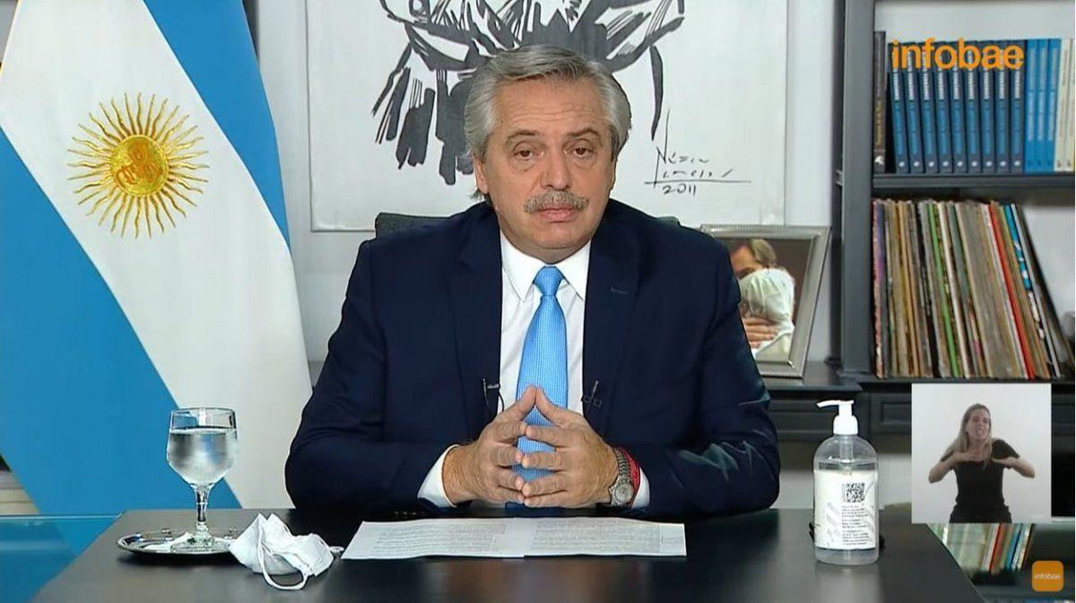 Toque de queda desde las 20 y suspensión de clases: las medidas de Alberto Fernández