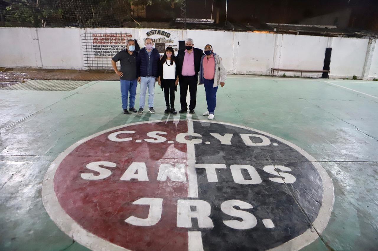 Santos Juniors cumplió años y Fernando Gray anunció obras