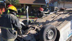 volco un patrullero en burzaco: policias hospitalizados