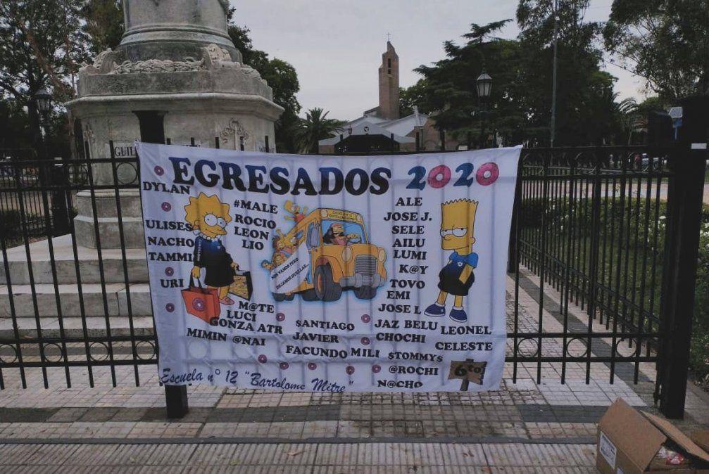 El ingenioso festejo de los egresados de la Escuela N°12 de Adrogué