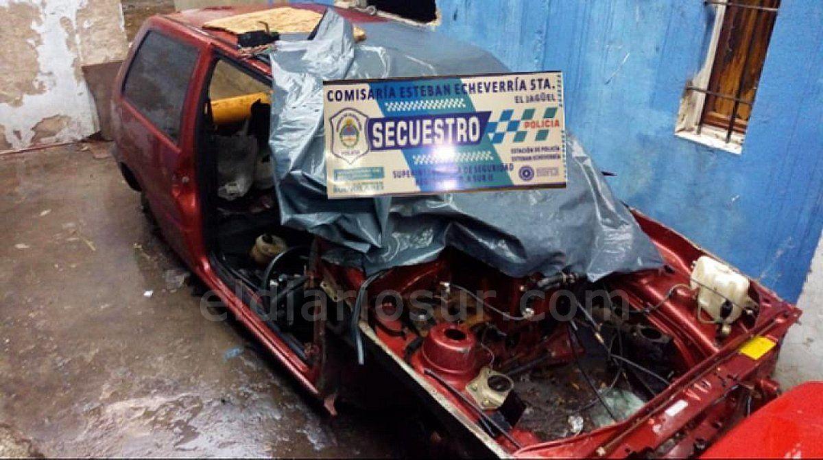 El Jagüel: desactivan un desarmadero de autos robados