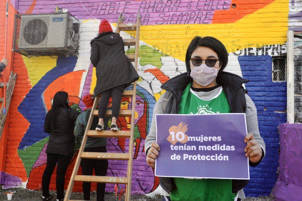 Nuevo mural contra la violencia de género en Monte Grande