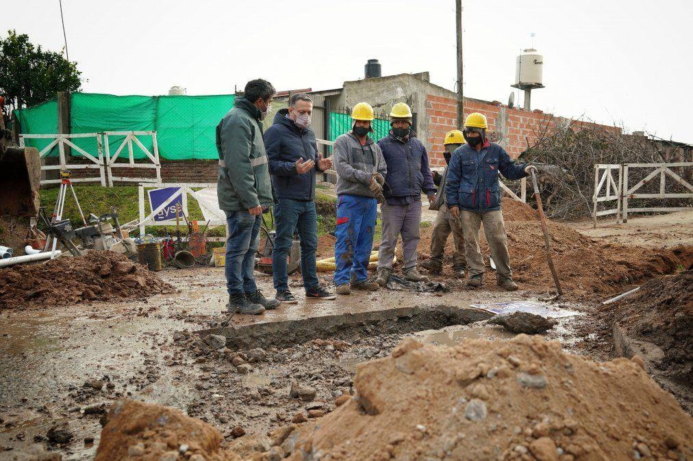 Fernando Gray supervisó una obra hídrica en Monte Grande
