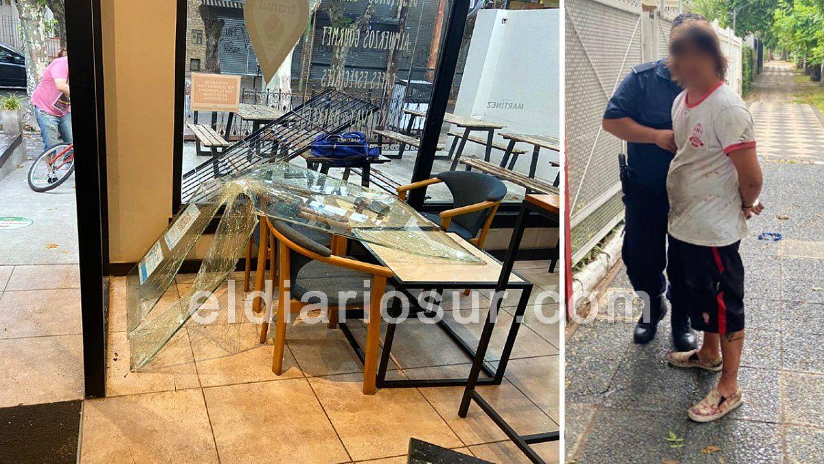 Robaron en Café Martínez de Monte Grande: un detenido
