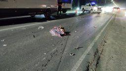accidente fatal en canning: murio un motociclista en la ruta 58