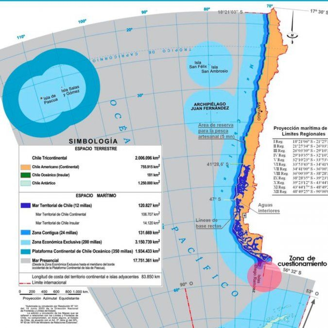 El conflicto con Chile, en el mapa.